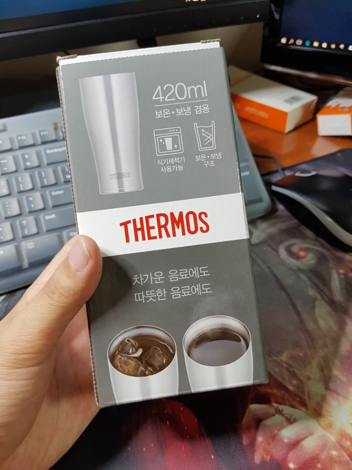 써모스(THERMOS) 보온/보냉 컵 420ml
